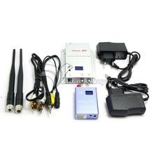 DC12V 1.2 ГГц 400mA 700 МВт 15CH Беспроводной Номер-в Аудио-Видео Передатчик + Приемник + Антенна + AV Кабель + Зарядное Устройство