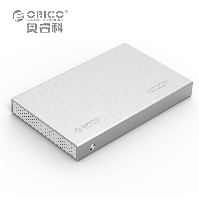 ORICO 2518S3-SV Aluminum USB3.0 5Gbps 2.5 inch Hard Drive Enclosure Support 7mm & 9.5mm - Silver