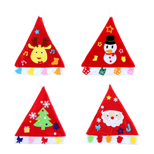f9327e8808e 4 Pcs DIY Christmas Hats with Santa Claus Snowman Reindeer Christmas Tree  for Parents and Kids