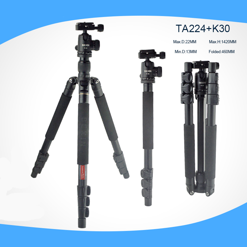 2016 new Aluminum Alloy Monopod Foldable Tripod Portable Detachable Traveling Tripods Ball Head for Canon Nikon DSLR Camera aluminum alloy professional monopod with mini tripod hydraulic pan tilt head for canon nikon dslr camera recording video