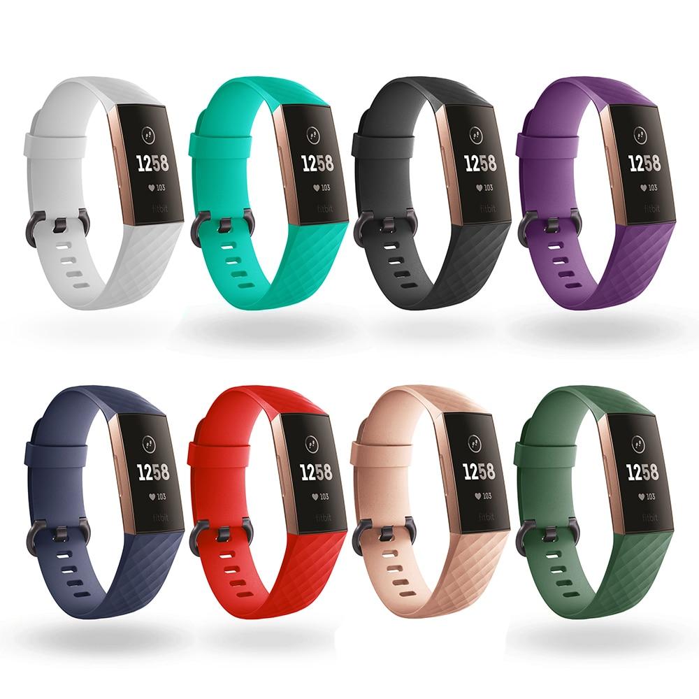 Durable Bracelet Accessories Wrist Band Straps For Fitbit Charge 3 Strap For Fitbit Charge 3 Watch Silicone Belt Fit Bit Charge3