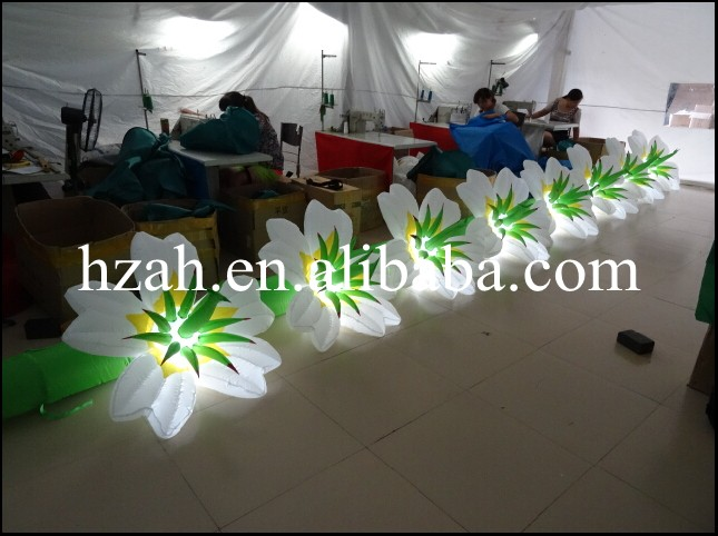 все цены на Hot sale lighted inflatable flower,inflatable stage flower wedding decoration