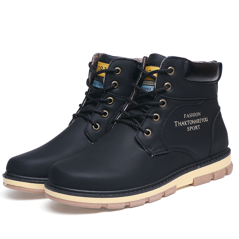Plush 46 Martin Plush Chaude Haute Black Qualité Chaussures 39 Taille Équitation Mode Bottes Mâle Plush No brown Plush blue Plush Tactique Neige Shangfandeng black D'hiver Hommes yellow Bullock De dHaw0vvqn4