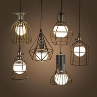 NEW Vintage Iron Pendant Light Industrial Loft Retro Droplight Bar Cafe Bedroom Restaurant American Country Style