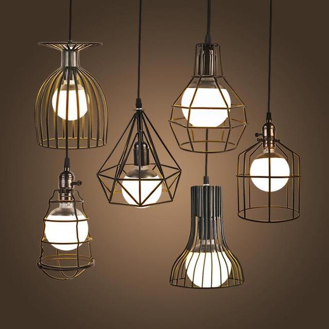 NEW Vintage Fer Pendentif Lumière Loft Industriel Rétro Droplight ...