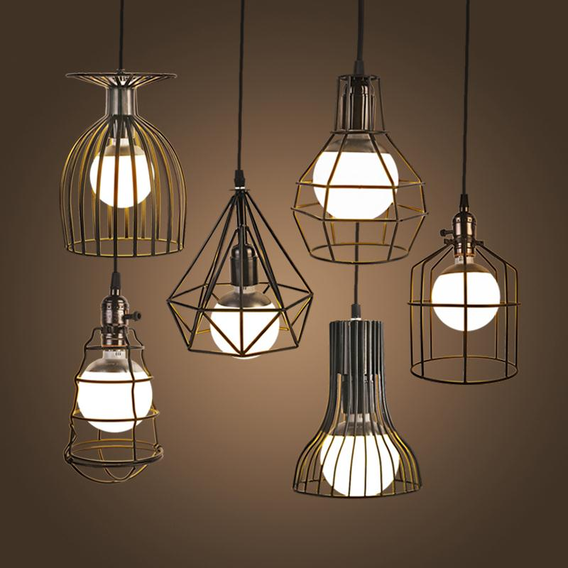 NEW Vintage Iron Pendant Light Industrial Loft Retro Droplight Bar Cafe Bedroom Restaurant American Country Style Hanging Lamp vintage iron pendant light loft industrial lighting glass guard design cage pendant lamp hanging lights e27 bar cafe restaurant