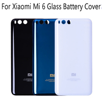 Original Replacement Battery Back Cover For Xiaomi Mi 6 Hard Glass Surface Housing Door Protective Phone