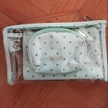3 pcs Set Casual Women Travel Cosmetic Bag PVC Leather Zipper