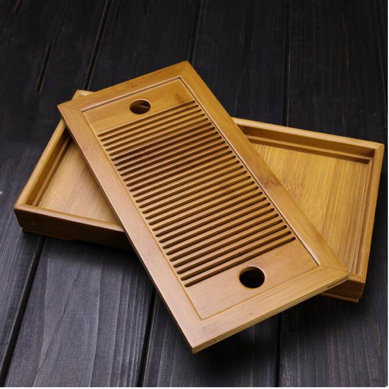 Bamboo Tea Tray Chinese Tasteful Gongfu Tea Table Serving Tray For Home Garden Portable YYY9352