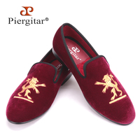 2013 New Styles Fashion Velvet Dress Slippers Lion And Loafers Shoes SZ 42 US 9