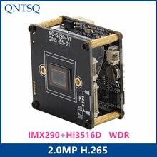 Sony Câmera IP 2.0MP H.265/Câmera do IP H.264, sony IMX290/IMX327 + HI3516D CMOS Módulo de Câmera IP, IP placa PCB + WDR ONVIF