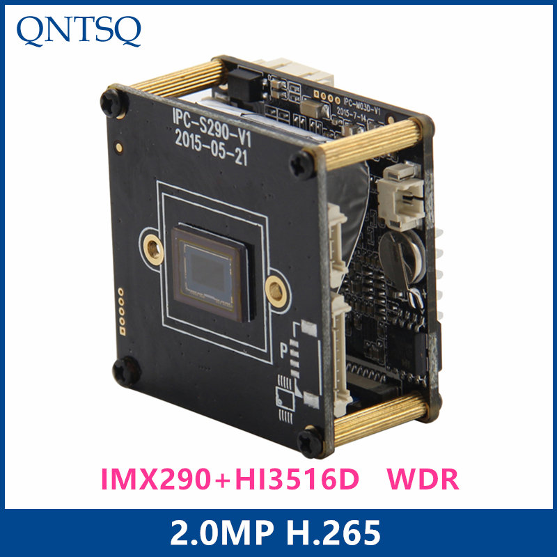 Sony IP Camera 2.0MP H.265/H.264 IP Camera,Sony IMX290/IMX327+<font><b>HI3516D</b></font> CMOS IP Camera Module,IP PCB board WDR+ONVIF image