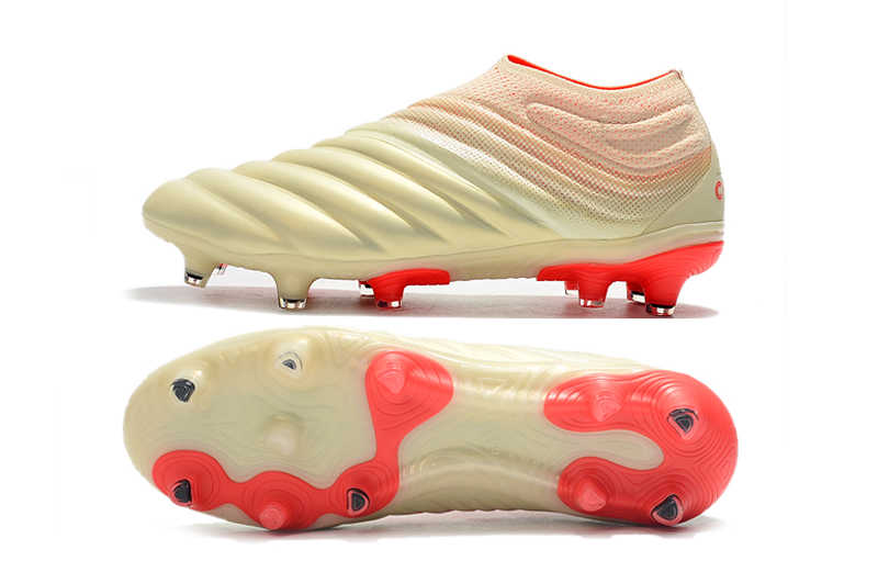 0397030ffd81 ... Newest Release ZUSA COPA 19+ FG OFF White Solar Red Football Boots 2019 Soccer  Cleats ...