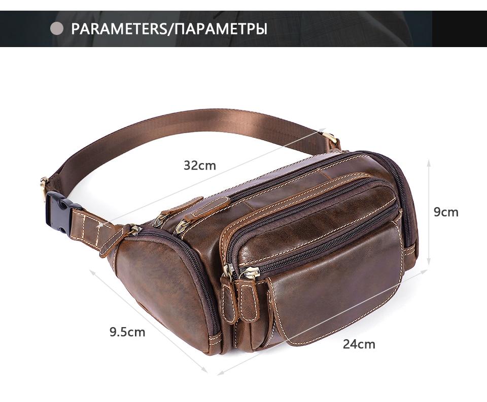 Sacos de Cintura Dos Homens Bolsa de