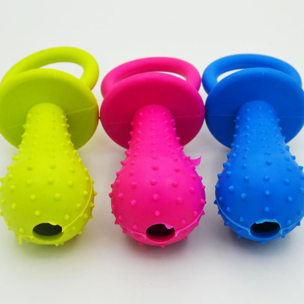 New 1Pc Rubber Nipple Dog Toys For Pet Chew Teething Train Cleaning Poodles Small Puppy Cat Bite Best Pet Dogs Supplies