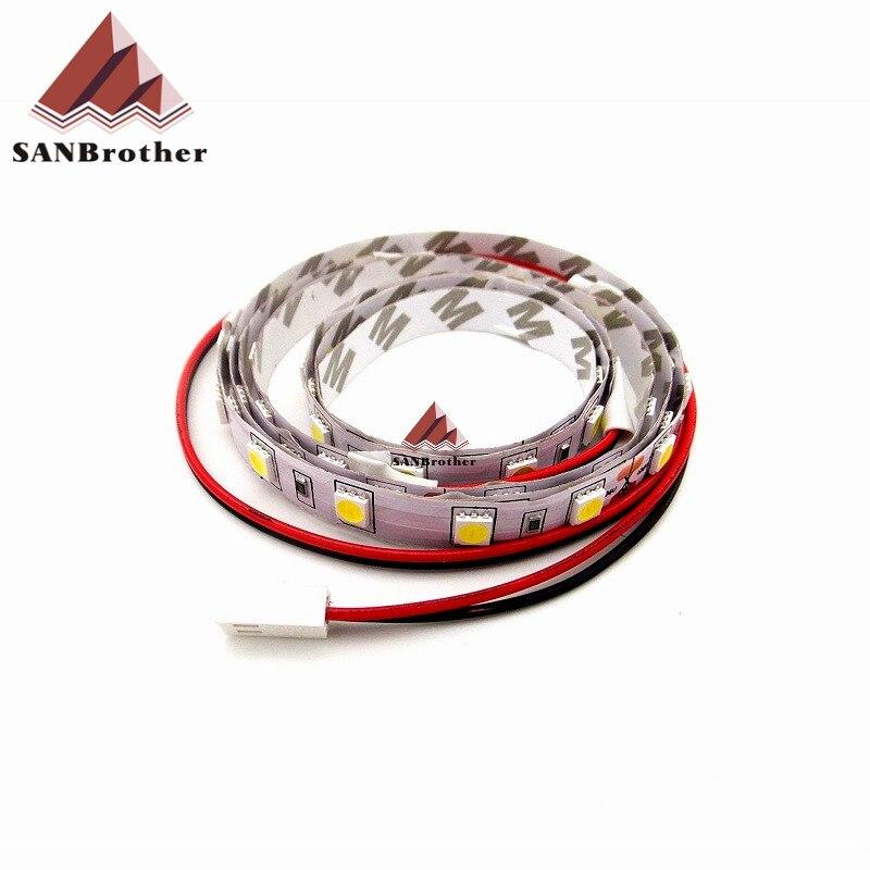 ¡3D impresora tira de LED a UM2 Ultimaker 2 + extendida, tira de LED a frío blanco longitud aceptar personalizado!
