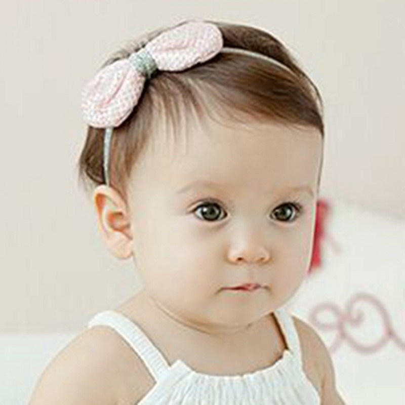 Korean Fashion Baby Girl Silver Bowknot   Headwear   Newborn Infants Princess Photo Props Lovely Artifact Hairband Accessories