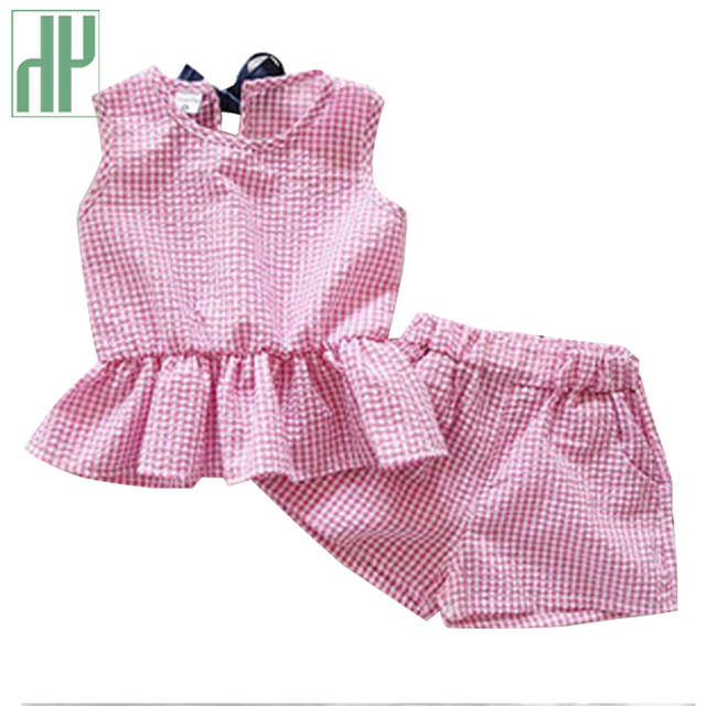 59db944215d1 Baby girl summer clothes Sleeveless Striped T-shirt+Shorts 2Pcs Girls  Clothes set boutique
