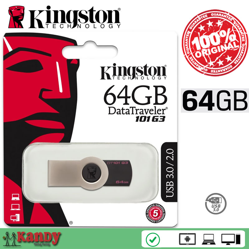 Kingston DataTraveler DT101G3 USB 3.0 flash pen drive 64GB 128GB key Mac cle usb stick the flash bellek personalizado memoria kingston datatraveler 101 generation 3 usb 3 0 flash drive black silver 64gb
