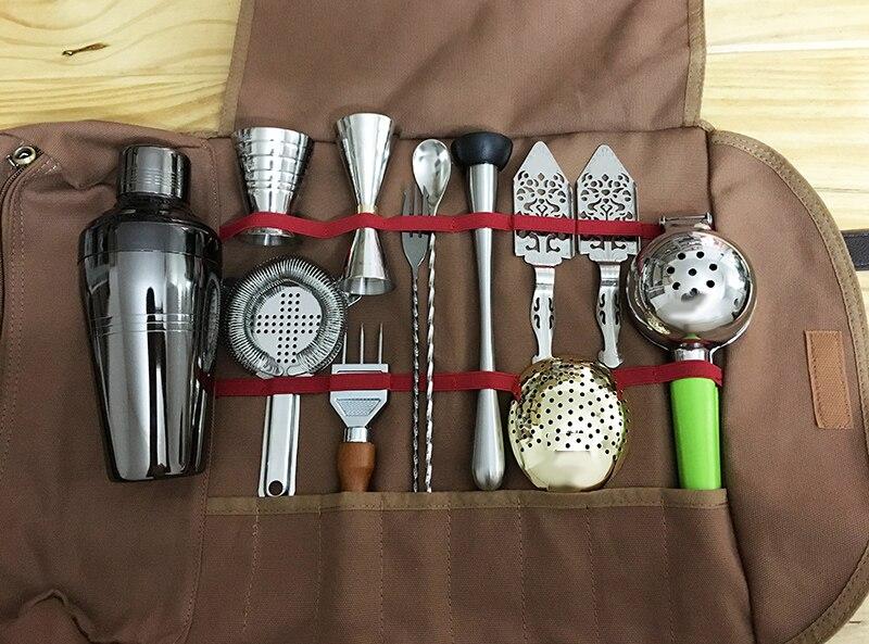 Saco de mixologia saco de ferramentas de barras