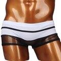 2016 Para Hombre de Malla Transpirable Calzoncillos Bikini Sexy Mesh See-Through transparente Interior Transpirable Calzoncillos Con Alta Calidad