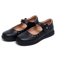 KALUPAO Newest Spring Autumn Princess Girls Shoes Kid Party Dress Shoes Fashion Flowers Black Leather School Shoes For Children