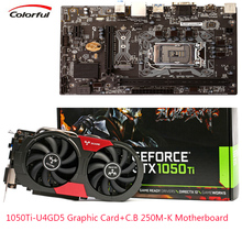 COLORFUL GPU iGame GTX 1050Ti U4GD5 Graphic Card GDDR5 +Motherboard C.B250M-K M-ATX LGA1151 Socket Processor Desktop Motherboard