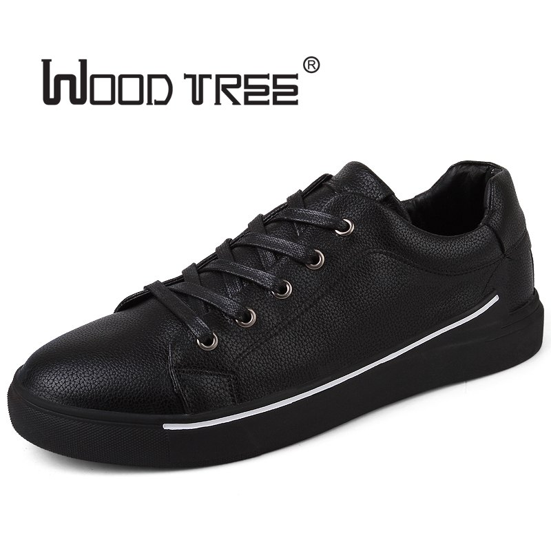 WOODTREE  Men's Leather Casual Shoes Classic Fashion Male Lace up - Men's Shoes - Photo 3