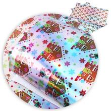 David accessories 20*34 см лазерной полосой в горошек цветок Сердце Рождество искусственная синтетическая кожа, DIY декоративные волосы лук сумки, 1Yc4986