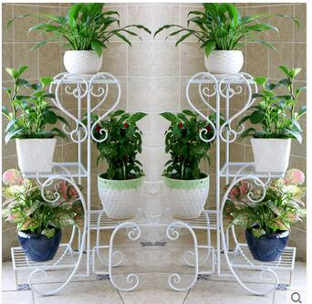 Ou, wrought iron flower multilayer indoor jardiniere sitting room floor balcony assembly other cosmetic
