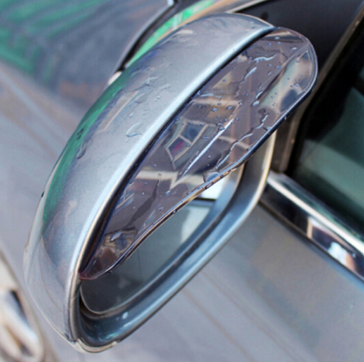 Car Styling Rearview mirror rain eyebrow for Mercedes Benz A180 A200 A260 W203 W210 W211 AMG W204 C E S CLS CLK CLA SLK Classe(China)