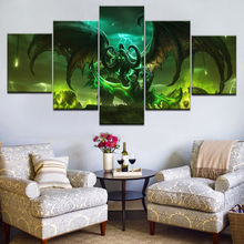 5 Panel WoW Legion Box Cover Poster Fram Gallery Wrap Art Print Home Wall Decor Picture Living Room Artwork