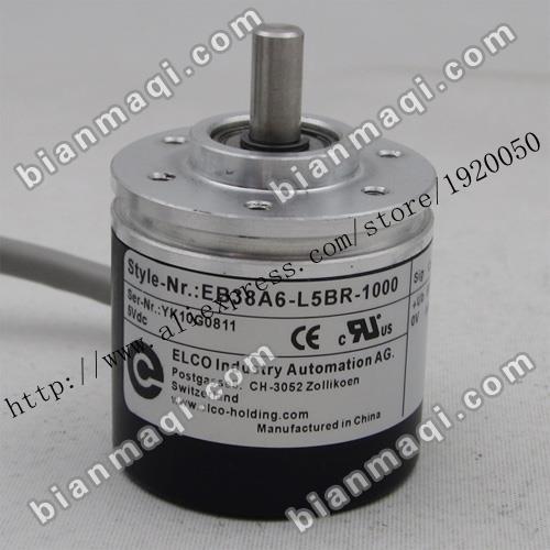 El punto EB38A6-L5BR-1000 Elco elco encoder incremental 1000 pulsos verdadero eje 6mm