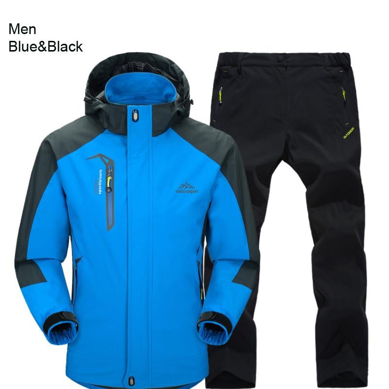 men blue black