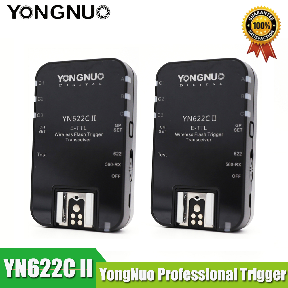 YONGNUO YN622CII ETTL Wireless Flash Trigger YN 622C II 2 Transceivers for Canon 5DIII 7D 60D