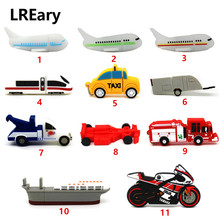 funny trailer truck USB key Flash drive 32GB Pen drive plane Container car memory stick disk pendrive 8GB 4GB 16GB 64GB gift toy