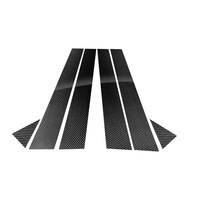 Carbon Fiber Car Window B pillars Stickers Car Decorative Trim Covers For Audi A3 A6 Q5 2012 2018 Car Styling Accessories