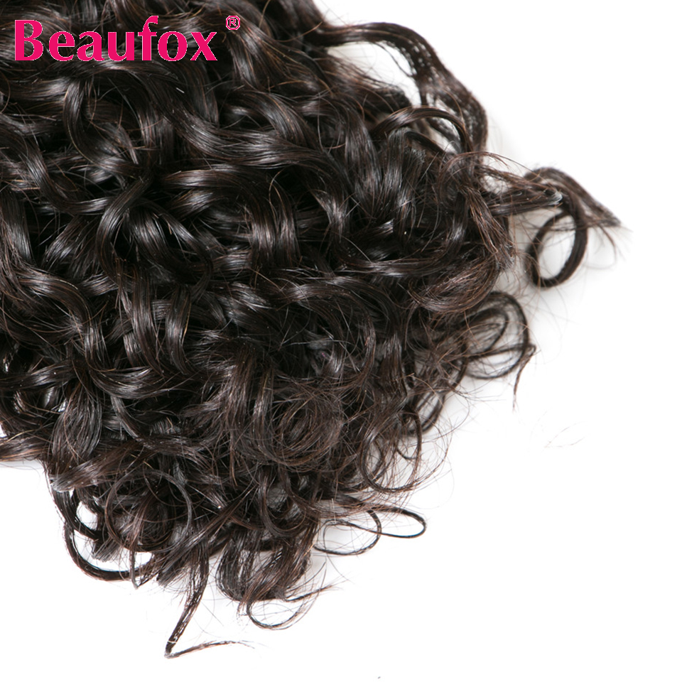 Beaufox Water Wave Brazilian Hair Weave Bundles 3 Bundles Human Hair Weave Natural Black Remy Hair Extension 8-28 Inches