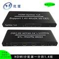 1.4 В 4 К x 2 К 3d hdmi splitter 1x4 порт HDMI Усилитель-Распределитель 1 вход 4 выход поддержка ЦИК EDID