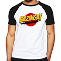 Горячие продажи скейт футболки Bazinga дизайн мужчины Футболка Хлопок O-образным Вырезом The Big Bang Theory Футболка Лето Casual Male Tee рубашка