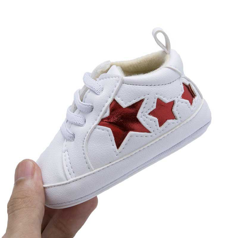 Baby Shoes Breathable PU Leather Shoes Star Print Boys Shoes Comfortable Girls Baby Sneakers Kids Toddler Shoes in First Walkers from Mother Kids
