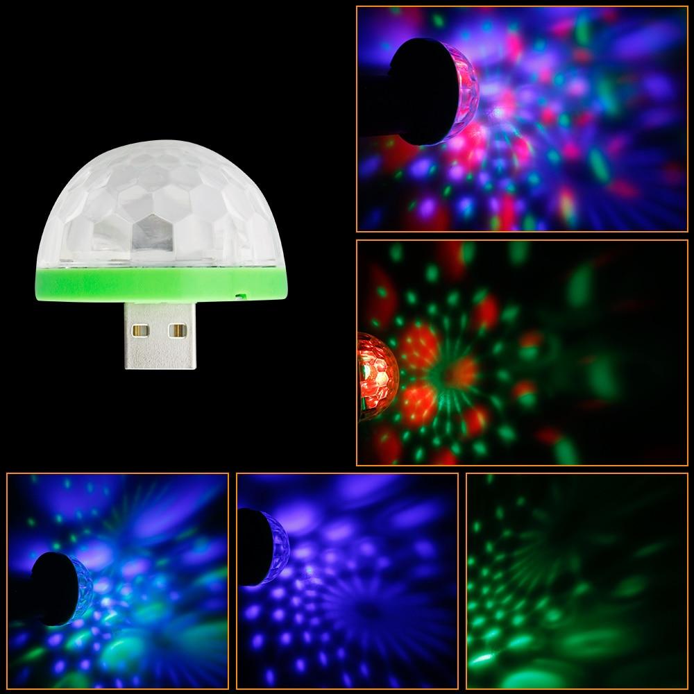 usb disco light music lights color change with music dj light stage party stroboscope lighting. Black Bedroom Furniture Sets. Home Design Ideas