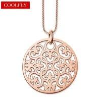 Arabesque Disc Ornament Anhänger Gliederkette Halsketten Thomas Stil Rose Gold Farbe Glam Fashion Schmuck Für Frauen Ts Geschenke Bijoux