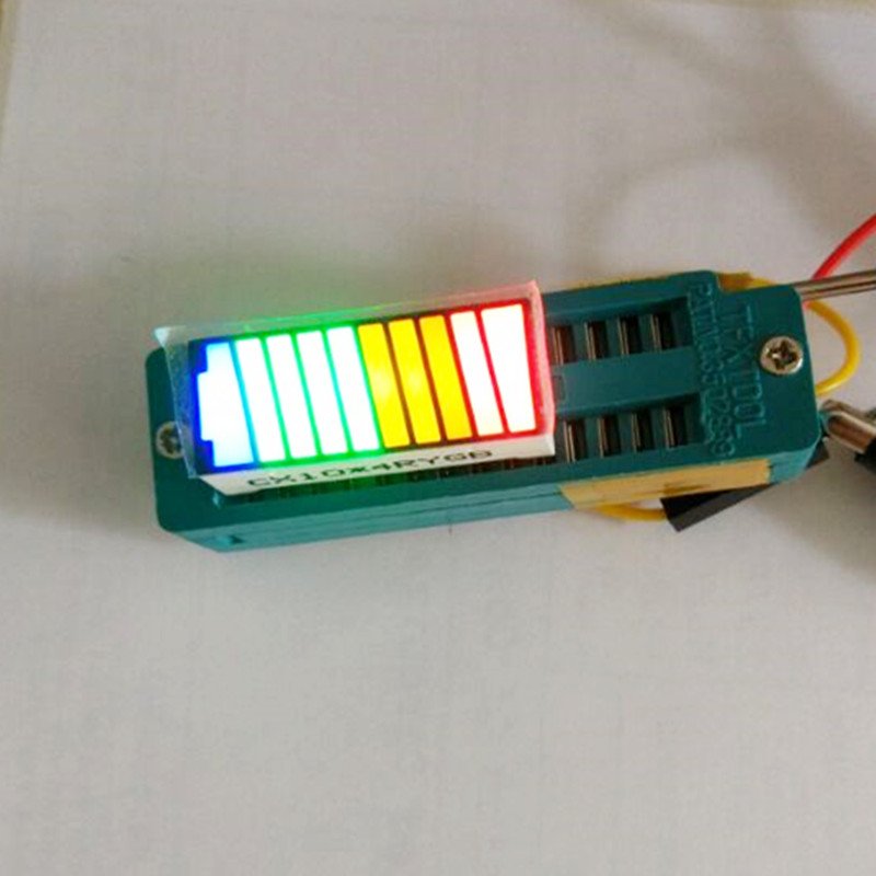 10pcs 4 Color LED Display Batt Indicator Digital BattCursor Bargraph LED Bar Graph Battery Indicator Battery Cursor