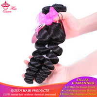 100% Human Hair Brazilian Loose Wave Bundles 1/3/4 Natural Color #1B Remy Weave Fast Shipping Queen Hair Products Double weft