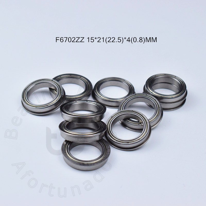 F6702ZZ 15*21(22.5)*4(0.8)MM 10pieces Bearing Flange Bearings 6702 F6702Z F6702ZZ Chrome Steel Deep Groove Bearing