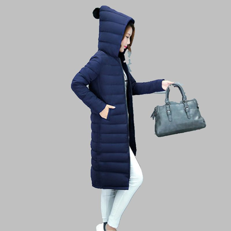 ФОТО Han edition New Winter Women Fashionable Cotton-Padded Clothes Leisure Big Yards Female Coat Long Sleeve Hooded Jacket  A0040