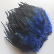 Pheasant-Neck-Feathers Natural Hat-Decoration Clothing DIY Blue 50pcs Beautiful 10-15cm/4-6inches