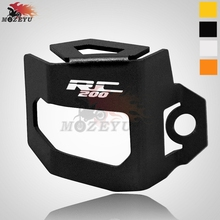 For KTM RC 200 Motorcycle CNC Rear Brake Fluid Reservoir Guard Cover Protect rc
