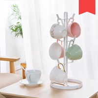 Wrought iron mug rack Shelves with cups kitchen mug rack storage rack Cup holder racks